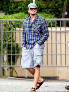 Leonardo DiCaprio in Birkenstock sandals. He looks pretty butch.