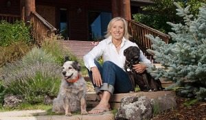 Martina, with dogs.