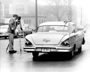 Highway engineer in Nebraska, 1960.