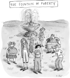 Roz Chast's take on puberty from The New Yorker.