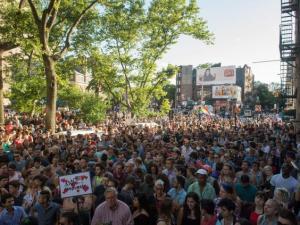 Vigil for Orlando at Stonewall, 6/12/16.
